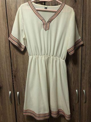🚚 White Bohemian Dress