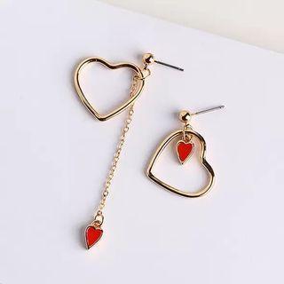 [PO] Heart Drop Earrings