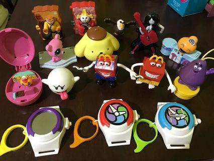 Used McDonald's Happy Meal Toys