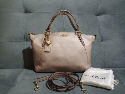 COACH Small Kelsey Metallic Platinum F55514
