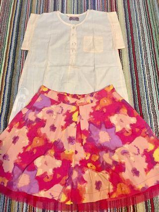Mango top dan GAP skirt