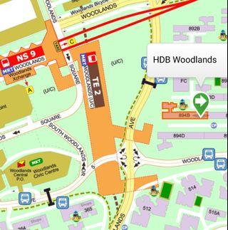 8 mins walk to Woodlands Mrt (female only)
