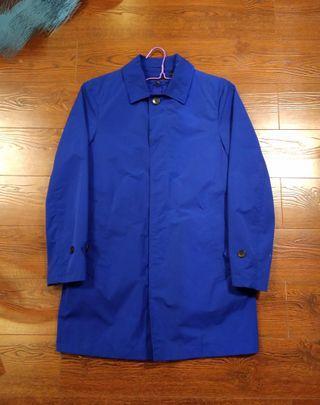 🚚 Uniqlo Air Tech Trench Coat 單排扣防風大衣 內裡內襯 藍 風衣