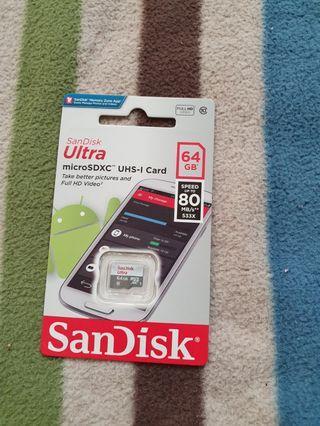 🚚 Sandisk ultra快速記憶卡64GB