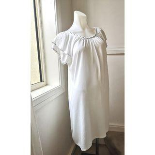 BRAND NEW--size S white beach dress