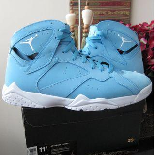 Nike Air Jordan 7 Retro University Blue Pantone Sneaker Shoe