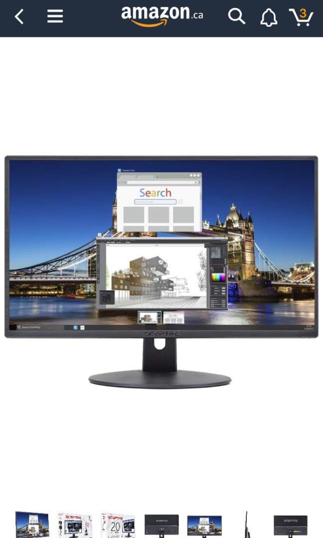 20' LED Ultra Slim Spectre Screen Monitor