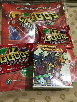Gogo's Crazy Bones + Digimon Fusion Battle Figure