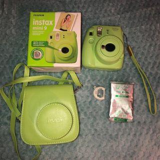 fujifilm instax mini 9 lime green lengkap