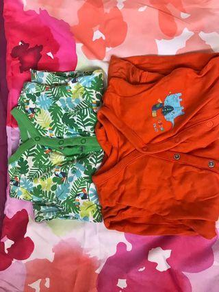 Mothercare baby bodysuits 3 to 6 months