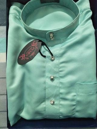 Baju Melayu PV Man Berpesak (Mint Color) Size M