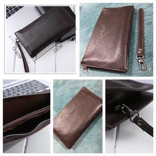 Quality Brown Soft Clutch Bag, Travel Wallet, [22cm x 12.5cm]-Free Smart Pac Mail,