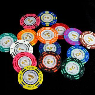 Monte Carlos Poker Chips Clay 14g