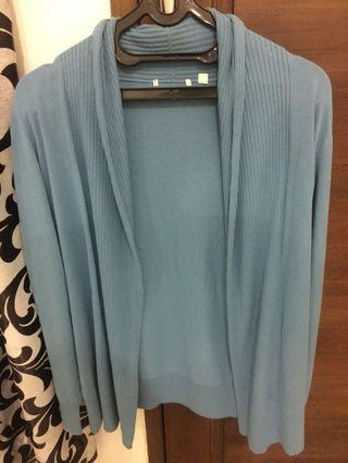 Blue Knit Cardigan