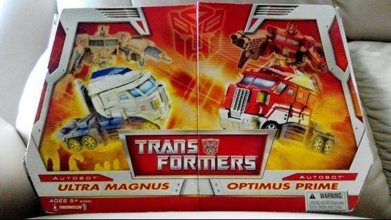 Transformers 變形金剛 Optimus Prime 柯柏文 Ultra Magnus 馬格斯 Set裝 Hasbro