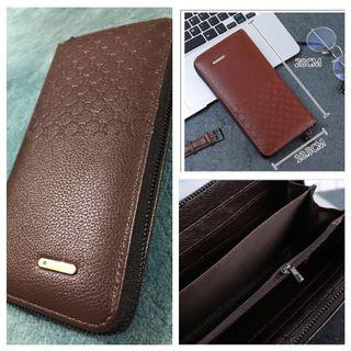 Brown-Faux Leather-Long Wallets, Travel Wallet-20cm x 10.5cm-Free Smart Pac mail 🥰 Great Gift for Mummy