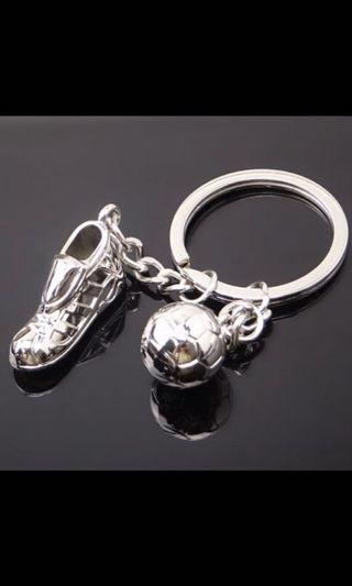 High Quality soccer shoes and football metal key ring keychain