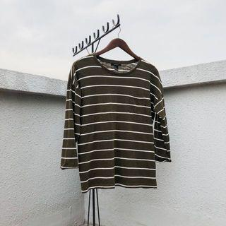 striped olive long sleeve
