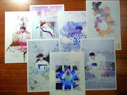 🚚 BTS 防彈少年團YOUTH 明信片 Postcards