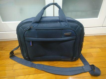 American Tourister Merit Briefcase Laptop Blue Beg
