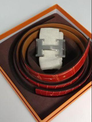 Hermes Croco Belt