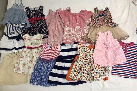 🚚 Pre-loved bundle dresses for 9 to 24 months (13 pcs)