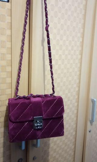 sling bag , hand bag , tas marun