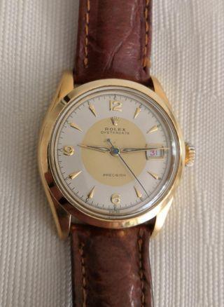 罕有 Rolex男裝古董18K鍍金錶。Vintage  men's Rolex 18K watch.