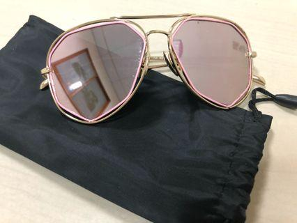 粉色太陽眼鏡
