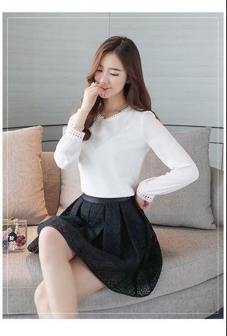🚚 Long sleeve chiffon women blouse shirt casual ladies tops