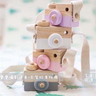 ins北歐新款木質模型玩具小相機模擬兒童寶寶攝影道具歐式創意拍攝照相擺件桌面裝飾掛件
