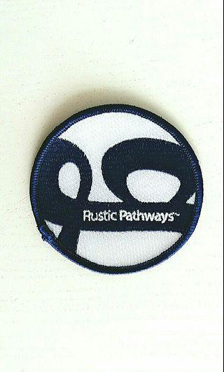 Rustic Pathways Navy Blue & White Logo Embroidery Patch - Large