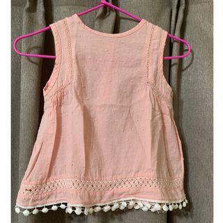 寶寶無袖上衣 6M 女童 衣服 嬰幼兒 童裝