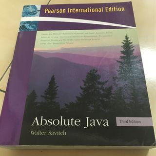 Absolute Java Third Edition