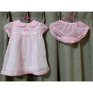 寶寶 女童 洋裝 套裝 1Y 帽子+衣+內搭褲 嬰兒 衣服 嬰幼兒 童裝