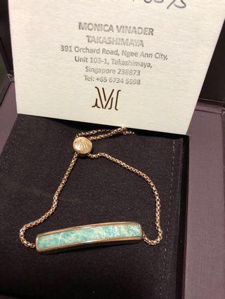 🚚 Monica Vinader Amazonite Bracelet (Rose Gold Chain)