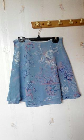 Chinese style pattern A-line skirt