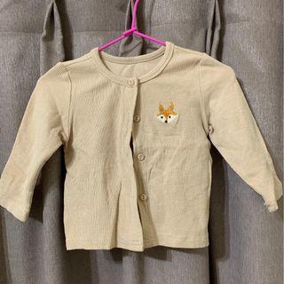 女童長袖外套 狐狸 上衣 12M-18M 衣服 新生兒 嬰幼兒 童裝