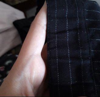 Celana Stripe hitam