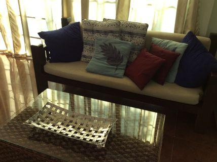 Solid Teak 3 seater Sofa selling cheap!