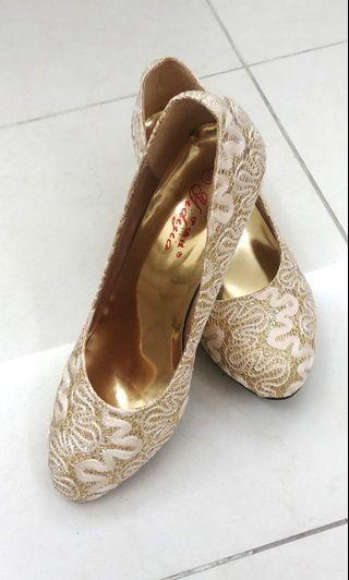Wedding Shoes 金絲閃閃晚裝鞋