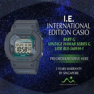 CASIO INTERNATIONAL EDITION BABY G VINTAGE HAWAII BLK-560VX-1 BLACK