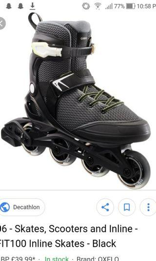🚚 Fit100 Inline Skates