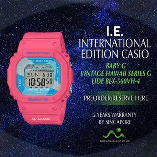 CASIO INTERNATIONAL EDITION BABY G VINTAGE HAWAII PINK BLK-560VX-4