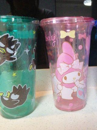 Sanrio Tumbler / cup ( My Melody, Badtz Muru)