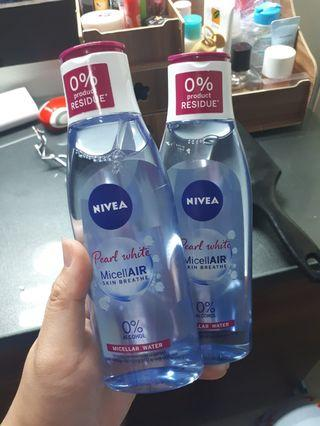 2x nivea micellair skin breathe 0% alcohol