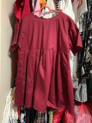 🚚 Red baby doll dress