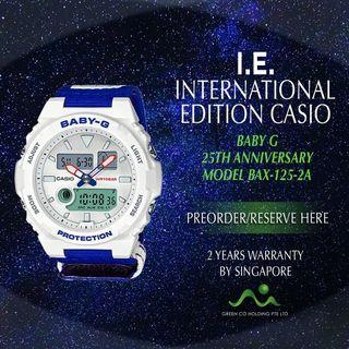 CASIO INTERNATIONAL EDITION BABY G G LIDE SURF CAMP 25TH ANNIVERSARY MODEL BAX-125-2A LIMITED EDITION