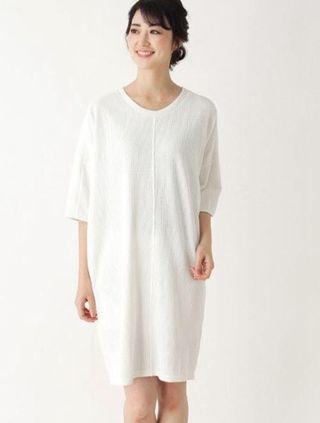 日系 簡約氣質 後背直紋連身裙