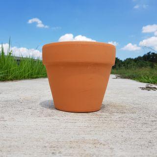 2pcs of 15cmx13cm terracotta pots